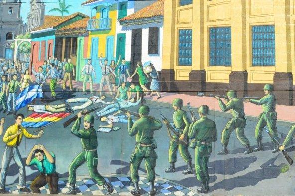 Nicaraguan revolution little malteser on tour for Mural nicaraguense